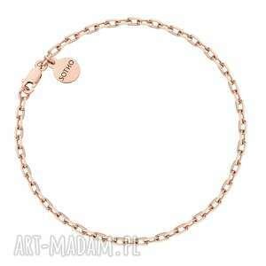 sotho masywna bransoletka na nogę z różowego złota