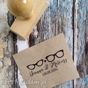 stempel exlibris 25x60mm okulary, stempel, exlibris, zaproszenia, ślub
