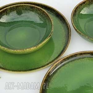 ceramika zestaw ceramiczny dla dwojga - talerz i miseczka, ceramika