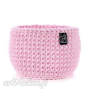 ręcznie robione dekoracje koszyk jasny różowy, l
