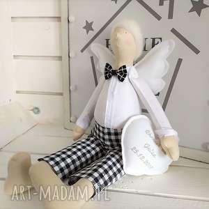handmade lalki anioł tilda pamiątka chrztu świętego