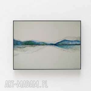 abstrakcja-praca formatu 28,2/21 cm, akwarela, papier, kredki, abstrakcja