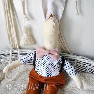 pan królik - przytulanka, eko, chrzciny, urodziny, prezent, chłopiec