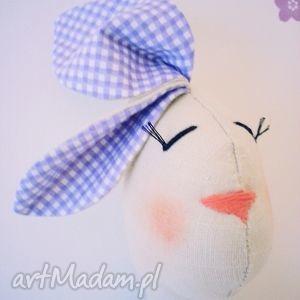 maskotka przytulanka królik handmade fioletowa, liliowa, wrzosowa