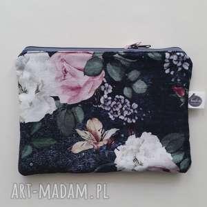 portmonetka/ kosmetyczka róże szary, portmonetka, kosmetyczka, etui, róże, vintage