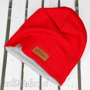 Prezent Czerwona czapka , czapka, beanie, czerwona, ciepła, bawełna, prezent