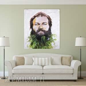 handmade obrazy portret obraz na w 100% bawełnianym płótnie 100x90cm artystki plastyka adriany laube
