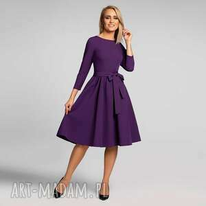 Sukienka marie 3 4 midi fiolet sukienki livia clue midi,