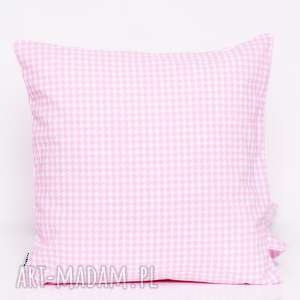 poduszki poduszka pepitka pink 50x50cm jasiek, od majunto
