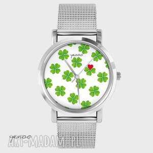 yenoo zegarek, bransoletka - lucky heart, bransoletka, koniczynka, serce