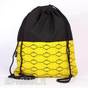żółty worek, plecak, torba, worek
