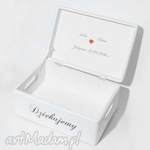 hand-made księgi gości ślubne pudełko na koperty kopertówka personalizowane napis dziękujemy