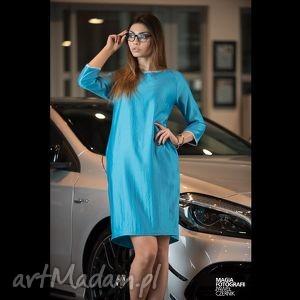 ręcznie zrobione sukienki sukienka semplice - blu