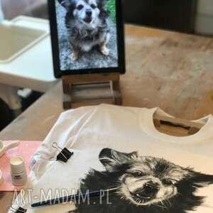 koszulki ręcznie malowane - portrety psów, malowane, koszulka