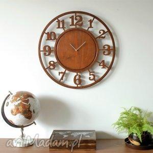 60 cm - DREWNIANY ZEGAR ścienny, bezgłośny, duży, zegar, drewniany