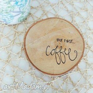 podkładka pod kubek brzoza - ,podkładka,eko,drewno,coffee,kawa,malowana,
