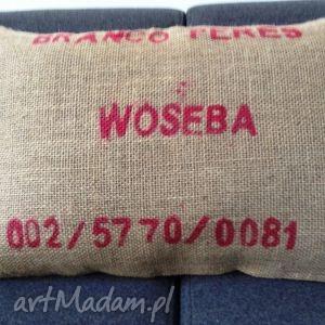 poduszka z juty, styl loft, recykling, industrial, aksamit, juta