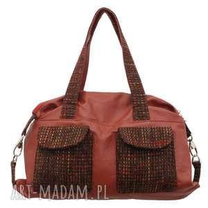 09-0004 Czerwona torba sportowa / torebka fitness TIT, markowe-torebki