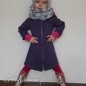 dresowy płaszczyk dziewczęcy 104 - ninoola, płaszczyk, dresówka, dresowy