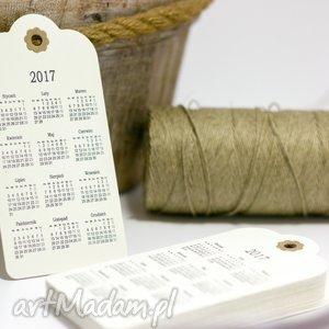 Zawieszka Kalendarzyk, kalendarz, etykietka, zawieszka, tag, eko