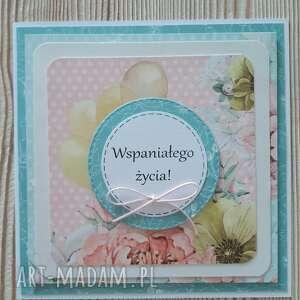 scrapbooking kartki kwiatowa kartka na różne okazje, urodziny, kwiaty, imieniny