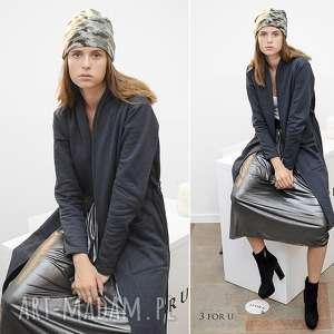 hand-made płaszcze płaszcz simple long coat czarny