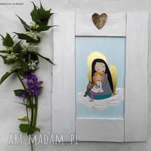 Prezent Anioł Stróż , pamiątka-chrztu, kot-anioł-dziecko, do-pokoiku