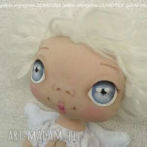 Aniołek lalka - dekoracja tekstylna, ooak dekoracje szarotka