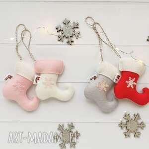 dekoracje zestaw 2 zawieszek na choinkę - buciki elfa