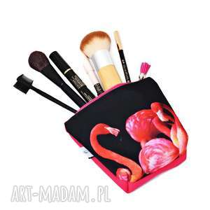 Prezent Kosmetyczka flamingi, saszetka flaming, wodoodporna z flamingami