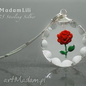925 srebrny łańcuszek vintage róża, prezent, srebro