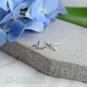 Prezent Minimalistyczne, geometryczne, boho kolczyki, srebro