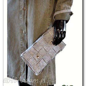 kopertówka pleciona z filcu ręcznie robiona, torby, torebki, filc, kobieta, prezent