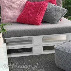 komplet poduszek dekoracyjnych - poduszki, loft, sznurka