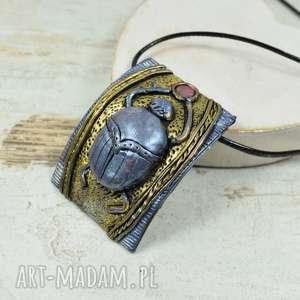 wisiorki zawieszka skarabeusz, zawieszka, wisiorek, biżuteria na prezent