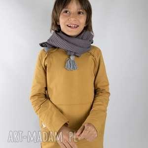 pod choinkę prezenty, bluza basic musztardowa, bluza, musztarda, surowa, bawełna