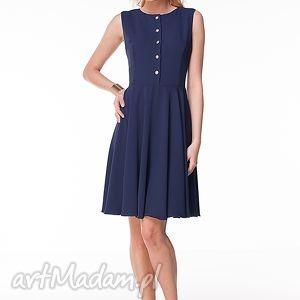 sukienka chiara, moda, granat, wiosna, lato, krepa ubrania