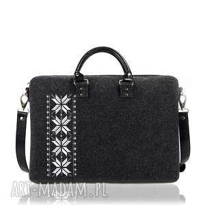 torba filcowa romby srebrne, laptopowa, srebne, romby, filcowa, skóra