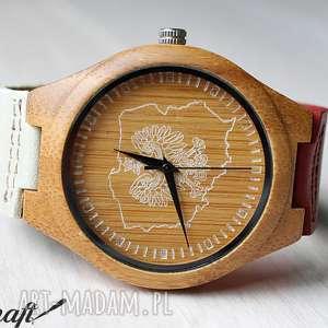 Patriotyczny drewniany zegarek POLSKA, drewniany, zegarek, patriotyczny, polska