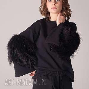 bluza z futerkiem, futro, futerko, szerokierekawy, design, folk, rosyjska
