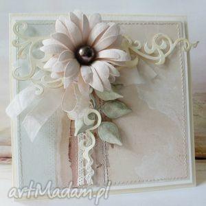 Kwiat i cacao scrapbooking kartki marbella kwiat, ślub, imieniny