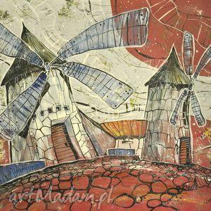 obrazy wietrzaki hispania, wiatraki, młyn, reprodukcja, 4mara