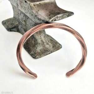 hand made bransoleta miedziana, skręcana
