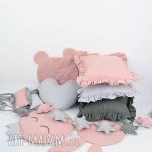 Dekoracje do pokoju dzieciecego poduszki z bawelny , falbanki, chmurka, girlanda