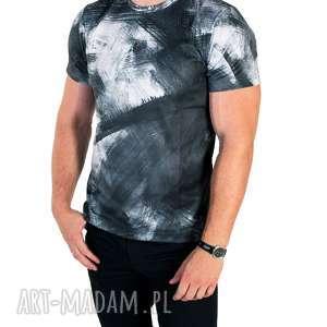 koszulki elegancki t-shirt męski black white wysoka jakość rozmiary s/m/l/xl, męska