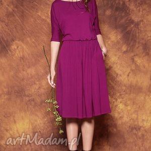 uniwersalna sukienka biskupia czerwień, sukienka, midi, dzianina