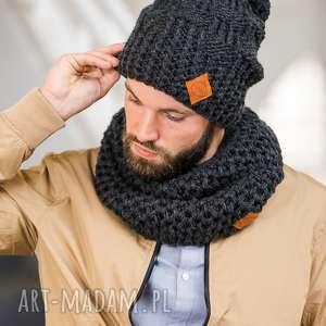 wyjątkowy prezent, tuba czarna perła, szalik, dla mężczyzn, na zimę, szal, komin