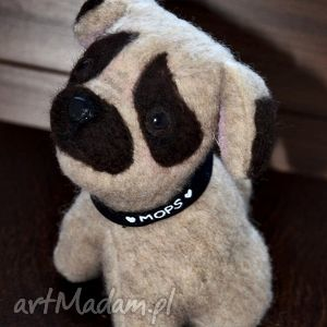 hand made, mops piesek, szyty ręcznie, unikalny, pluszak,przytul misie - pies, mops