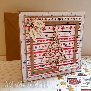 Pomysł na prezenty święta! Kartka z choinką w ramce #2