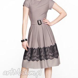 ręcznie robione sukienki sukienka rita midi gipiura